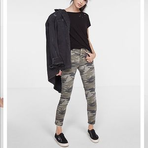 Express- camo print stretch ankle leggings